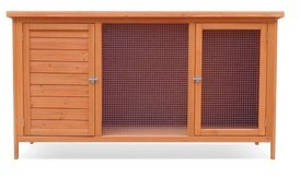 Harrisons Ulverston Single Hutch on legs natural, 130x50x70cm