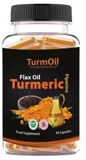 TurmOil  Flax Oil Tumeric Capsules 90 pack