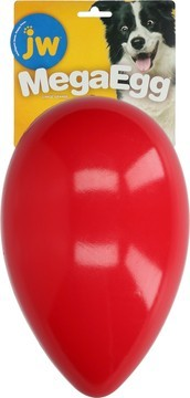 JW Mega Egg Red Large Dog Toy