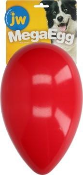 JW Mega Egg Red Large Dog Toy