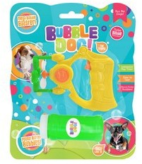 Bubble Dog Bubble Blaster With Peanut Butter Bubbles.