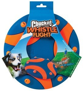 Chuckit Whistle Flight Flyer Dog Chase Toy