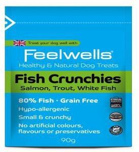 Feelwells Fish Crunchies Dog Treats x 12 packs