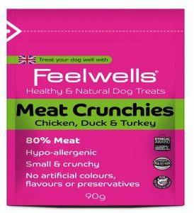 Feelwells Meat Crunchies Dog Treats x 12 packs