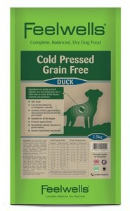 Feelwells Cold Pressed Duck Dog Food 2.5kg