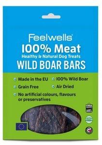 Feelwells 100% Meat Dog Treats Wild Boar (5pack) x 10
