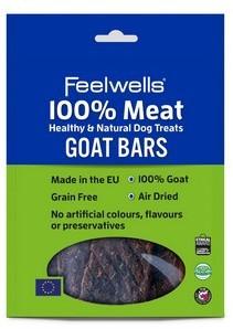 Feelwells 100% Meat Dog Treats Goat Bars (5pk) x 10