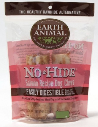 Earth Animal No Hide Salmon Small Dog Chews 2 pack