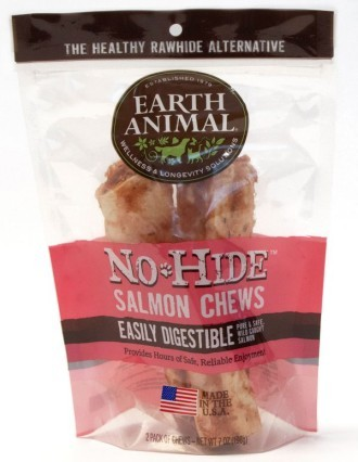 Earth Animal No Hide Salmon Medium Dog Chews 2 pack