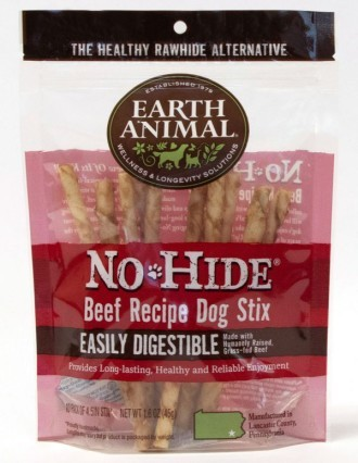 Earth Animal No Hide Beef Dog Stix 10 pack
