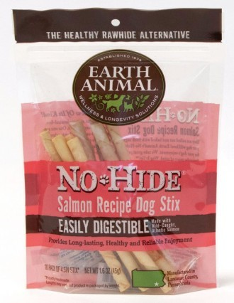 Earth Animal No Hide Salmon Dog Stix 10 pack