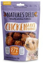 Natures Deli Chicken and Rice Meatball Dog Treats100g x 10