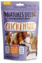 Natures Deli Chicken Wrapped calcium bone Dog treats 100g x 10