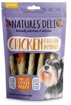 Natures Deli Chicken and Rawhide Dumbbell Dog Treats100g x 10
