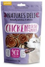Natures Deli Chicken and Fish Sushi Rolls Dog Treats 100g x 10