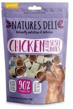 Natures Deli Chicken and Fish Sushi Bites Dog Treats 100g x 10