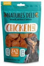 Natures Deli Chicken Chips Dog Treats 100g x 10