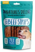 Natures Deli Soft beef strips Dog Treats 100g x 10