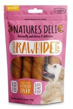 Natures Deli Smoked Hide Twists with Chicken Liver Medium 5pk 150g x 10