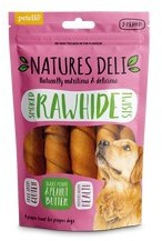 Natures Deli Smoked Hide Twist with Peanut Butter Medium 5pk 150g x 10