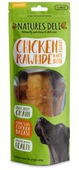 Natures Deli Chicken Wrapped Rawhide Knot Bone Large 150g`x 10