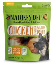 Natures Deli Chicken Wrapped Rawhide Donut 75g x 10 packs