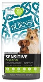 Burns Sensitive Pork and Potato Dog Food 12Kg