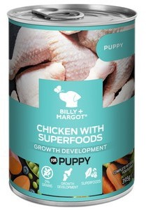 Billy and Margot Puppy Superfood Can Wet 395g x 12