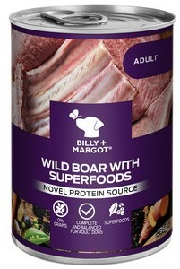 Billy and Margot Wild Boar Superfood Dog Food 395g x 12
