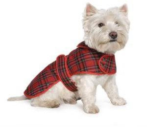 Ancol Highland Tartan Dog Coat Red Small
