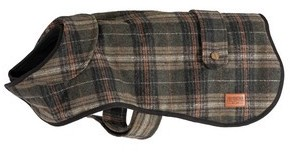 Ancol Heritage Green Check Dog Coat 40cm