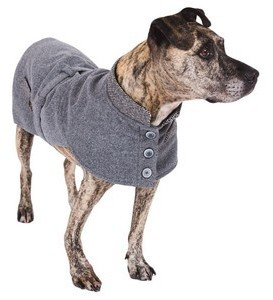 Sotnos Urban Grey Tweed Dog Coat Small