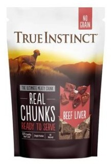 True Instinct Freeze Dried Real Beef Liver Chunks 200g