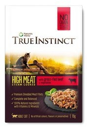 True Instinct High Meat Beef Fillets Cat Food x 8 pouches