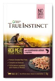 True Instinct High Meat salmon Fillets Cat Food x 8 pouches