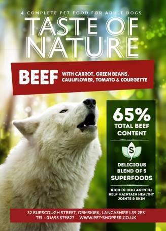 Taste of Nature Beef Superfood 65/35 Dog Food 12kg