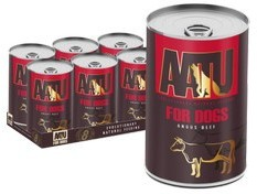 AATU Dog Adult Angus Beef 400g tins x 6