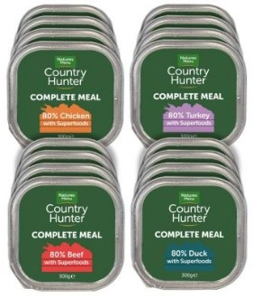 Country Hunter Complete Meals pack of 8 assorted 300g trays