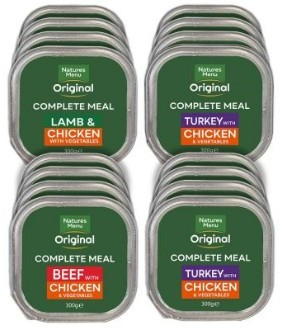 Natures Menu Complete Meals pack of 8 assorted 300g trays