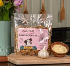 Betty Millers Gluten Free Garlic & Chicken Paws Dog Treats 400g