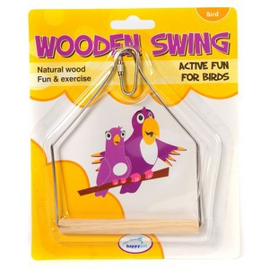 Wooden Bird Swing