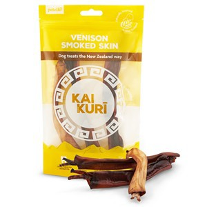 Kai Kuri Air Dried Smoked Venison Shank Skin Dog Treats