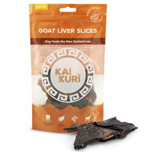 Kai Kuri Air Dried Goat Liver Slice Dog Treats