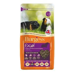 Burgess Excel Adult Guinea Pig Nuggets Blackcurrant & Oregano 2kg