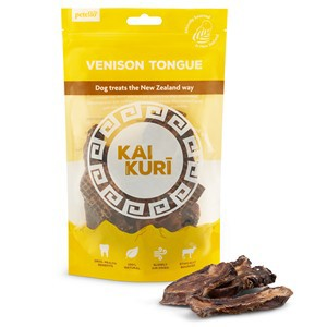 kai Kuri Air Dried Venison Tongue Dog Treats 8 packs for the price of 7