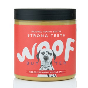 Woof Strong Teeth Health Natural Peanut Butter for Dogs 250g