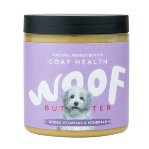 Woof Coat Health Natural Peanut Butter for Dogs 250g