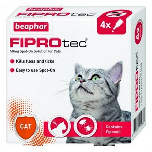 Fiprotec Spot On Flea treatment for Cats 4 pipettes