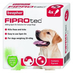 Fiprotec Spot On Flea treatment for large Dogs 20-40kg 4 pipettes