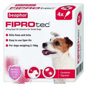 Fiprotec Spot On Flea treatment for Small Dogs 5-10kg 4 pipettes